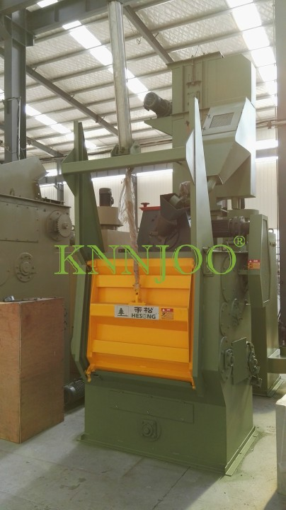 Durble Rubber & Steel Belt Tumblast Machine for Foundry