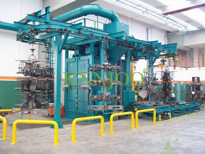 Continuous Hanger Type Shot Blasting Machine for Vehicle Brake Disc