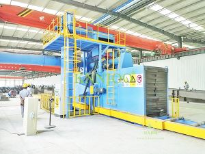 Q69 Series Roller Conveyor Through Type Shot Blasting Machine for Large Structure