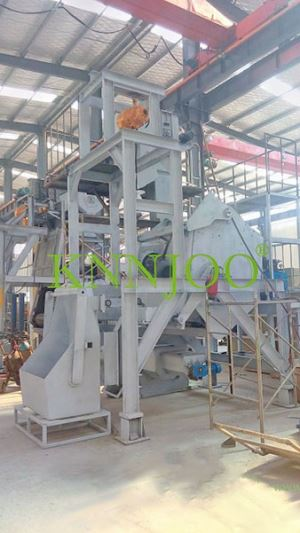 Tilting Drum Type Shot Blasting Machine