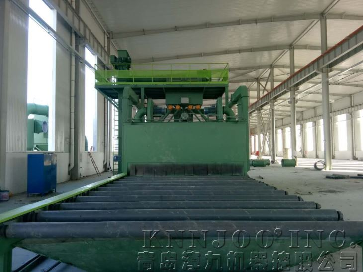 Roller Conveyor Sandblasting Equipment For Beautifying Ceramic Background Wall